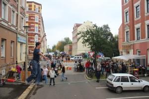 Stimmung beim Straßenfest